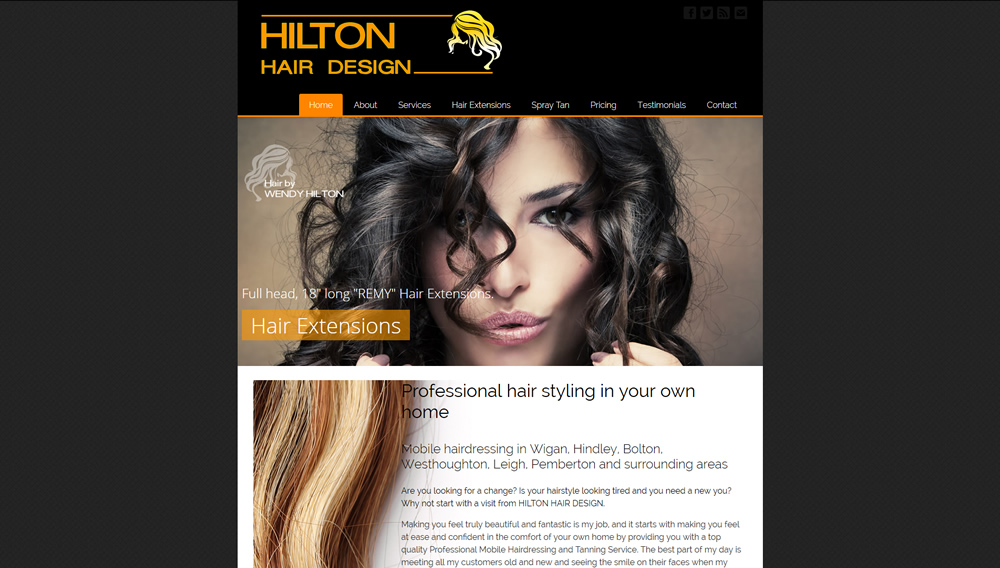 Hilton Hair Design website