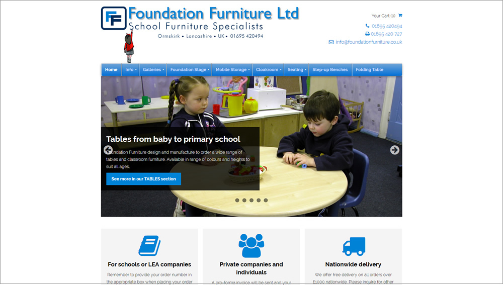 Foundation Furniture website