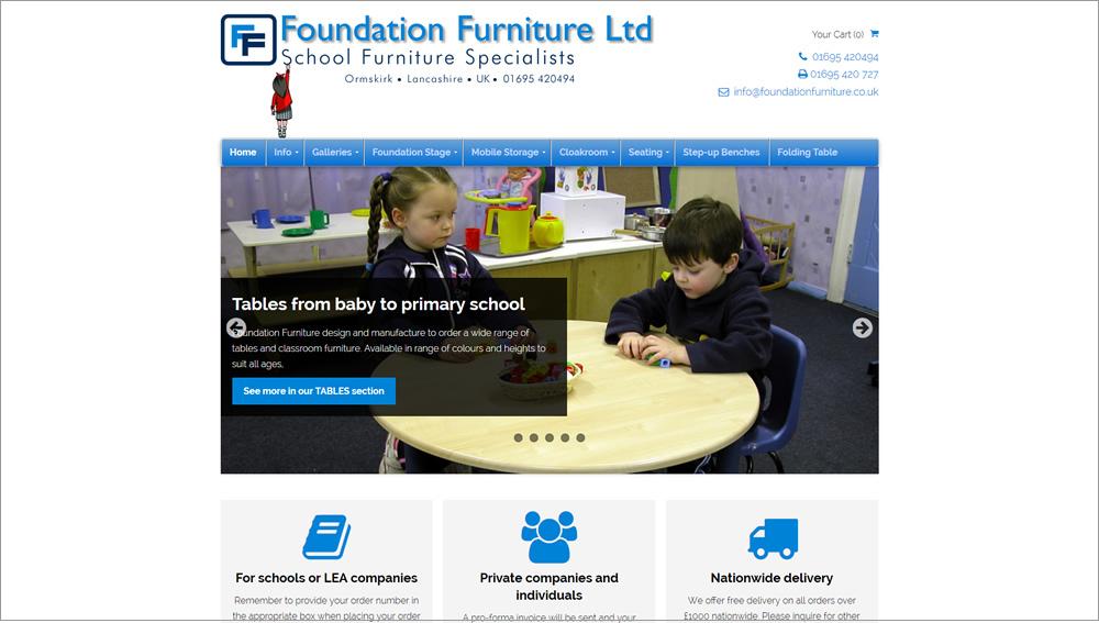 Foundation Furniture website