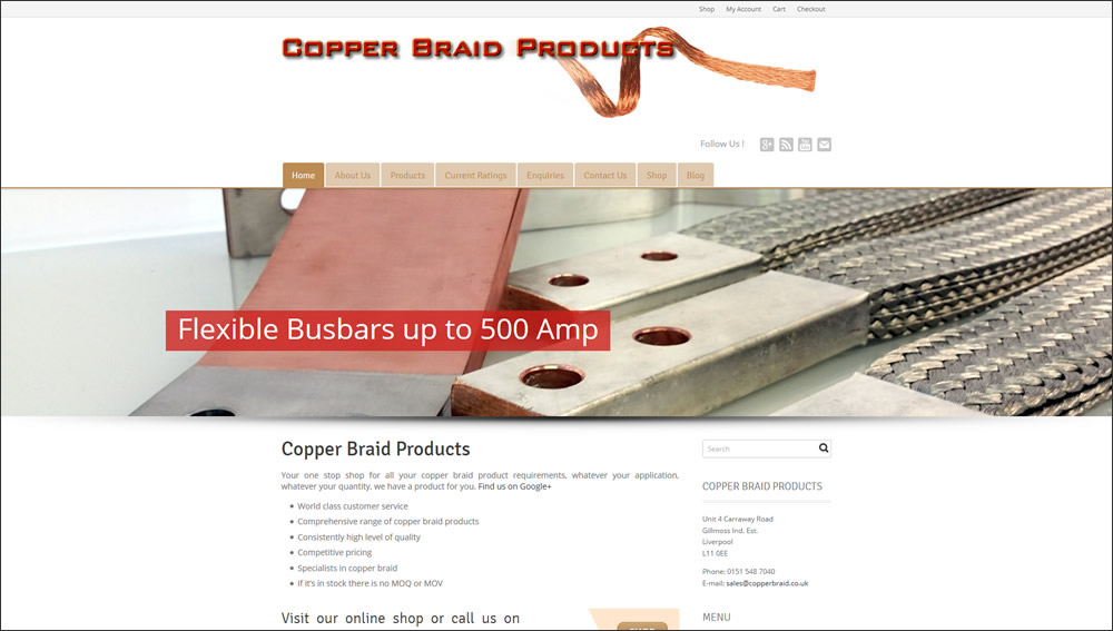Copper Braid Products website