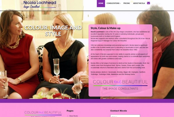 Nichola Lochhead Colour Me Beautiful website