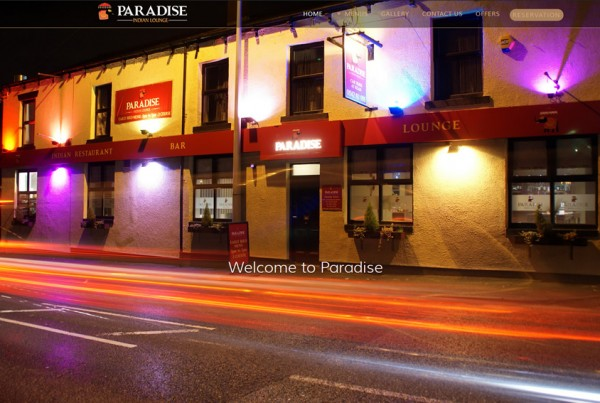 Paradise Indian Lounge website